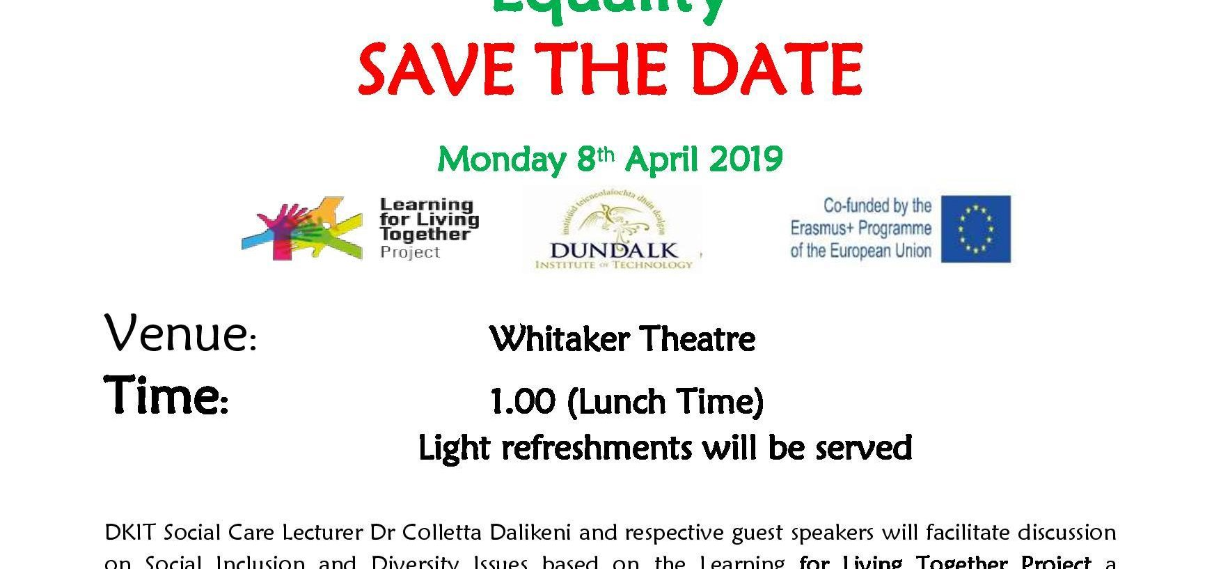 Learning for living together - a social inclusion Project launches at DKIT